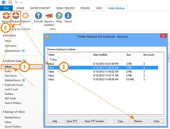 Free Folder Backup for Outlook - instant backup of specified Microsoft  Outlook folder
